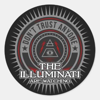Illuminati Are Watching Don't Trust Anyone Classic Round Sticker