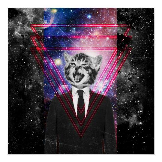 Illuminati cat poster