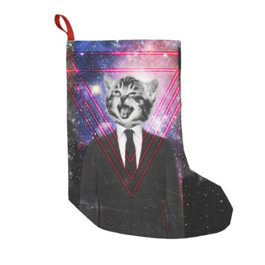 Illuminati cat small christmas stocking