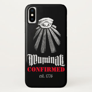 Illuminati Confirmed Black - Iphone X Case