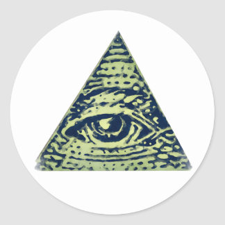 Illuminati confirmed! Classic Round Sticker