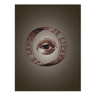 Illuminati eye postcard