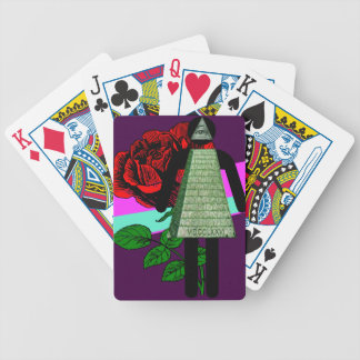 Illuminati Girl Prom Night Bicycle Playing Cards