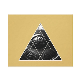 Illuminati Graphic Gold Canvas Print