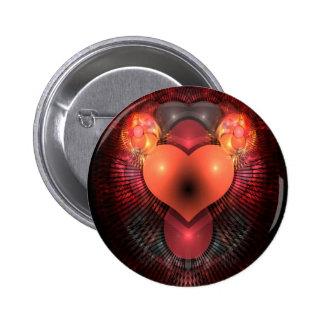 Illuminati Heart Pinback Button