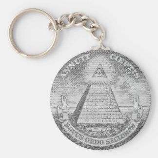 illuminati logo key ring