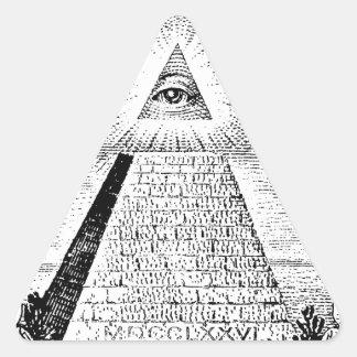illuminati logo triangle sticker