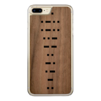 ILLUMINATI (morse code) Carved iPhone 8 Plus/7 Plus Case