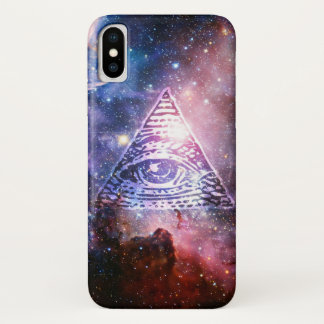 Illuminati nebula iPhone x case