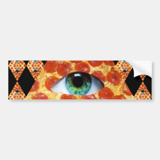 Illuminati Pizza Bumper Sticker