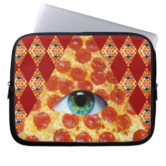 Illuminati Pizza Laptop Sleeve