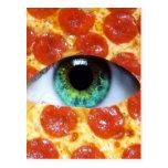 Illuminati Pizza Post Card