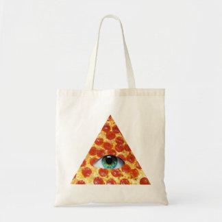 Illuminati Pizza Tote Bag