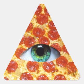 Illuminati Pizza Triangle Sticker