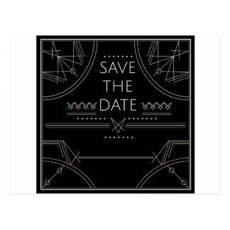 illuminati save the date postcard