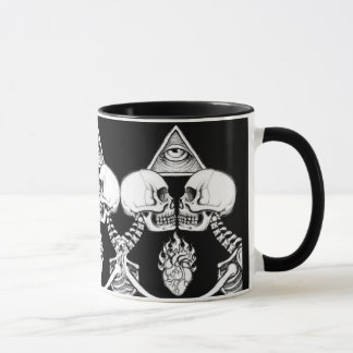 Illuminati skeleton mug