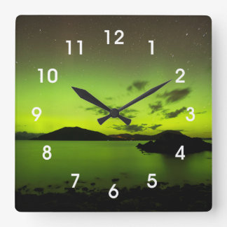 Illuminating Aurora Wallclock