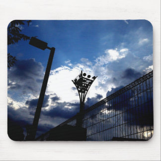 Illumination tower and cloud of tennis court mouse pad