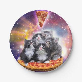 Illuminatis pizza - pizza cat - cat sitting paper plate