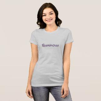 Illuminous tee silver and purple