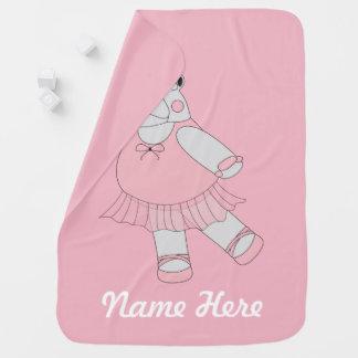 illusima Ballerina Hippo Baby Blanket
