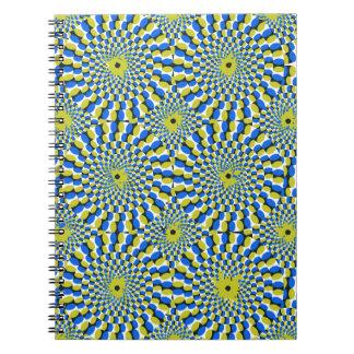 Illusion circle spiral notebook