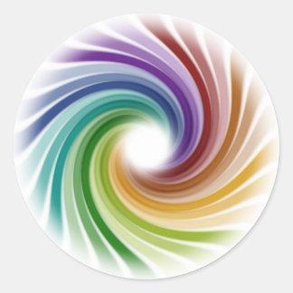 Illusion Classic Round Sticker