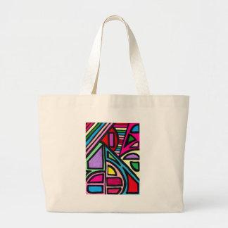 Illusion Maze Canvas Bags
