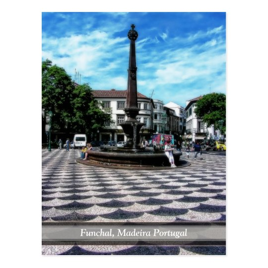 Illusion Tiles Art : Funchal, Madeira (Portugal) Postcard