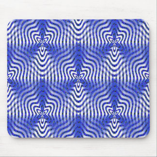 Illusions in blue.... mouse pad