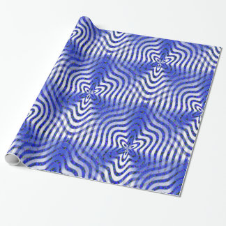 Illusions in blue.... wrapping paper