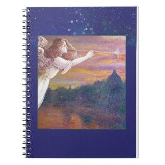 Illustrated Angel Impressionist Paris Notebook