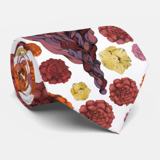 Illustrated Bearded Lady Tie