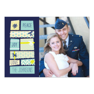 Illustrated Christmas Presents Holiday Photo Card