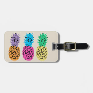 Illustrated colorful Pineapples Luggage Tag