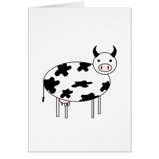 Illustrated Cow Card