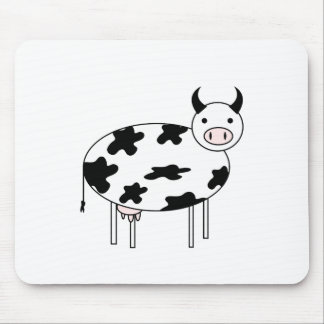 Illustrated Cow Mouse Pad