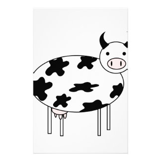 Illustrated Cow Stationery