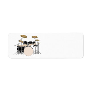 Illustrated Drum Set Return Address Label
