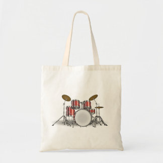 Illustrated Drum Set Tote Bag
