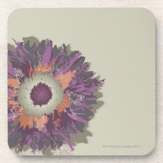 Illustrated Flower Beverage Coasters