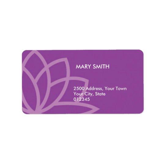 Illustrated Flower Large Address label