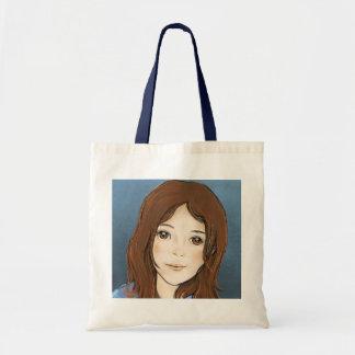 Illustrated Girl Tote Bag