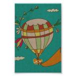 Illustrated Hot Air Balloon