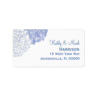 Illustrated Hydrangea Address Labels
