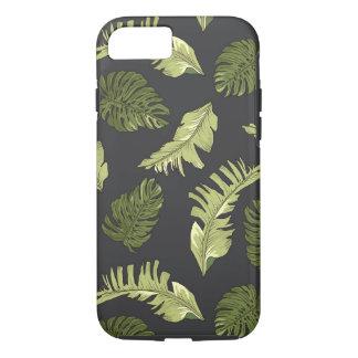 Illustrated Jungle Leaves Dark Pattern iPhone 8/7 Case