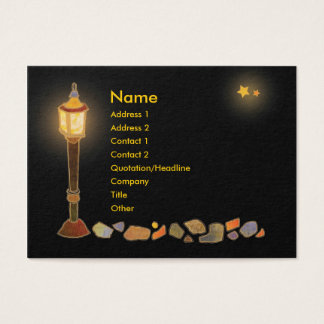 Illustrated LampPost Business Cards