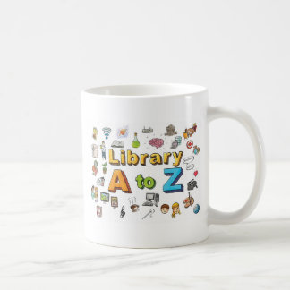 Illustrated Library A-Z Logo Coffee Mug