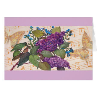 Illustrated Lilac Butterfly Magical Birthday Card