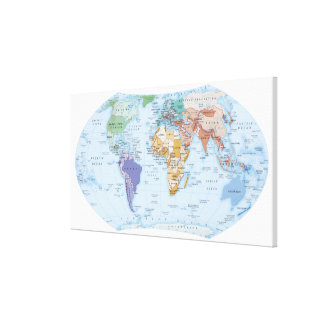 Illustrated Map 2 Canvas Print